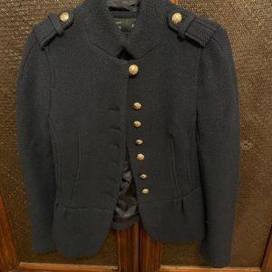 Zara Navy Military Chic Blazer